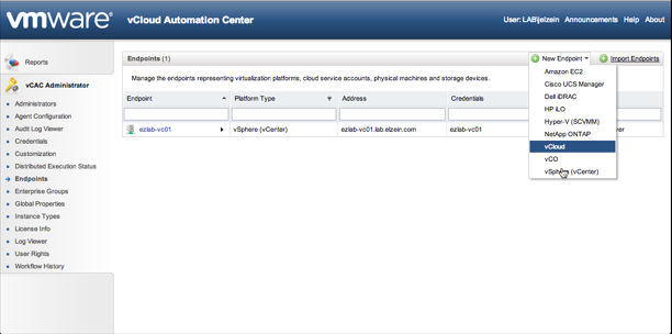 Choose vCloud Director Endpoint